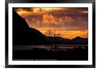 """""""Moody sunset at Wastwater"""", Framed Mounted Print"""