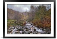 """Autumn mists in Thirlmere"", Framed Mounted Print"
