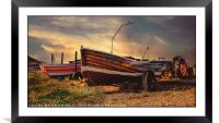 """Skinningrove Boats"", Framed Mounted Print"