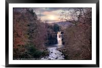 """""""Evening light at High Force"""", Framed Mounted Print"""
