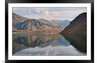 """""""Cloud reflections at Ennerdale water"""", Framed Mounted Print"""
