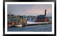 """""""Late afternoon sailig into Vardo"""", Framed Mounted Print"""