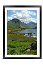 """Wastwater in the sun"", Framed Mounted Print"