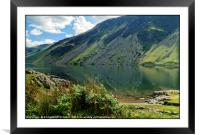 """Early morning reflections at Wastwater"", Framed Mounted Print"