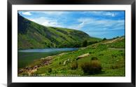 """Blue skies at Wastwater"", Framed Mounted Print"