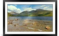 """Wastwater and Scafell range"", Framed Mounted Print"
