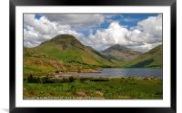 """""""3D Clouds at Wast Water"""", Framed Mounted Print"""