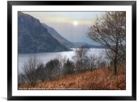 """""""Autumn mists at Ennerdale water"""", Framed Mounted Print"""