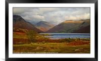 """""""Autumn evening Wastwater"""", Framed Mounted Print"""