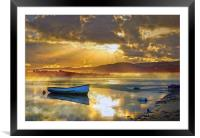Misty River Sunrise, Framed Mounted Print