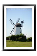 Windmill at Lytham , Framed Mounted Print