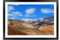 The majesty of mountain,, Framed Mounted Print