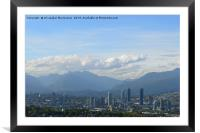 A nice view of Vancouver, Canada., Framed Mounted Print