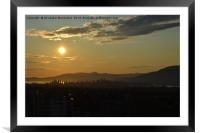 Sunset in Vancouver, Canada, Framed Mounted Print