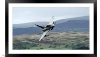 RAF Typhoon low level in Wales at the Mach Loop  1, Framed Mounted Print