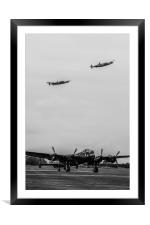 Three Lancasters, Framed Mounted Print