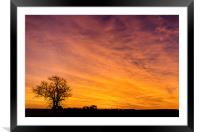 The Pre Dawn Colours, Framed Mounted Print