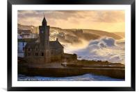 Stormy Morning (Porthleven) , Framed Mounted Print