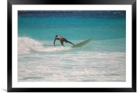 Paddle Boarding, Framed Mounted Print
