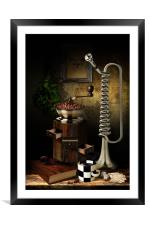 Still-life With The Trumpet, Framed Mounted Print