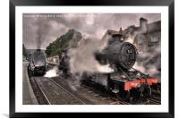 Smoke and Steam (colour), Framed Mounted Print
