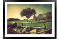 Lost farmstead, Framed Mounted Print