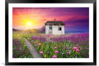 surrounded by beauty , Framed Mounted Print