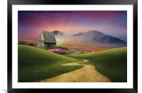 the pathway to heaven , Framed Mounted Print