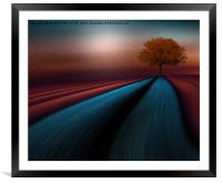 The Little red tree, Framed Mounted Print