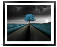A color is as strong as the impression it creates , Framed Mounted Print