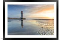 Lighthouse sunset, Framed Mounted Print
