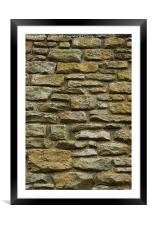 Stone Wall, Framed Mounted Print