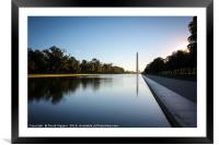 Morning at the Washington , Framed Mounted Print