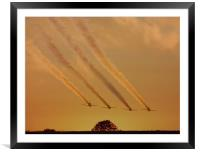 Flying Into the Sunset , Framed Mounted Print