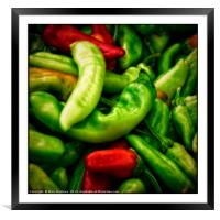 Peppers at the Market, Framed Mounted Print