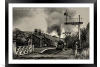 75078 at Oakworth Station New Years Day, Framed Mounted Print