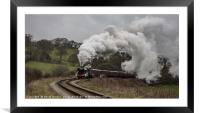 Flying Scotsman leaving Grosmont, Framed Mounted Print