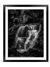 Waterfall Mono, Framed Mounted Print