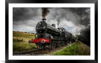 43924 passing Damems loop, Framed Mounted Print