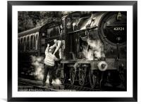 Passing the token, Framed Mounted Print