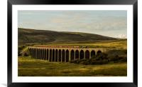 Flying Scotsman passing over Ribbleshead Viaduct, Framed Mounted Print