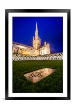 Norwich Cathedral, Framed Mounted Print