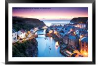 Twilight Glow, Staithes, Framed Mounted Print
