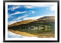 Autumn Reflection, Loch Long, Framed Mounted Print
