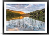 Autumn light Loch Ard, Framed Mounted Print