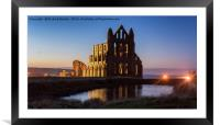 Whitby Abbey Sunset, Framed Mounted Print