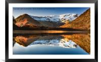 Autumn Light on Brothers water, Framed Mounted Print