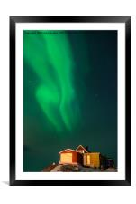 The Northern Lights Hotel, Framed Mounted Print