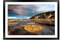 Rock Formations, Saltwick Bay, Framed Mounted Print