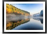 Staindale Lake In Autumn, Framed Mounted Print